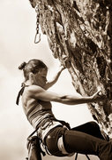 "Rock Climbing Photo: Carolina on ""The GIft"", Red Rock Canyon,..."