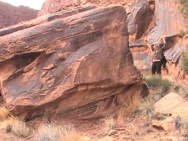 """secret"" bouldering area on approach"