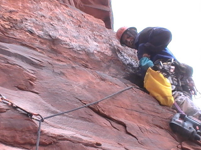 Rock Climbing Photo: gettin er done
