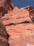 Rock Climbing Photo: skyler about 1/2 way