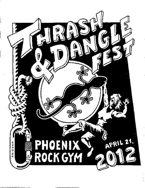 2012 Thrash & Dangle Fest poster