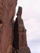 Rock Climbing Photo: tjurunga, on wall above north big bend boulders