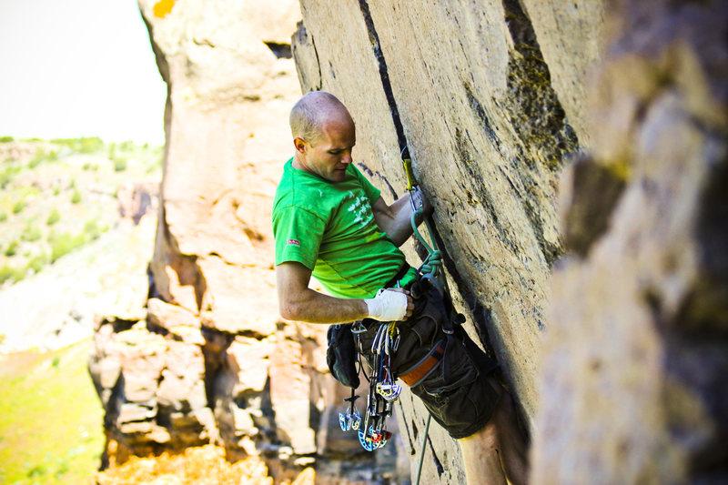 Climbing in Idaho at Midget Widget.