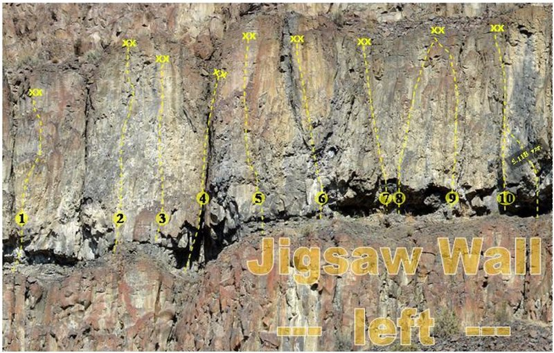 Left side of Jigsaw Wall