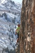 Rock Climbing Photo: Sand People Cometh,12a, Burro Wall.