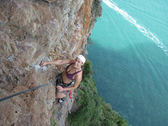 Rock Climbing Photo: Looking hot on P2 of Lord of the Thais