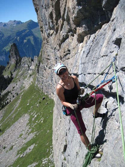 Rock Climbing Photo: Looking hot on Hintisberg