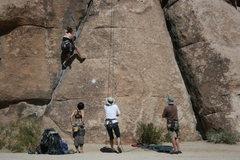 Rock Climbing Photo: Agina Sedler cranking and having some fun.