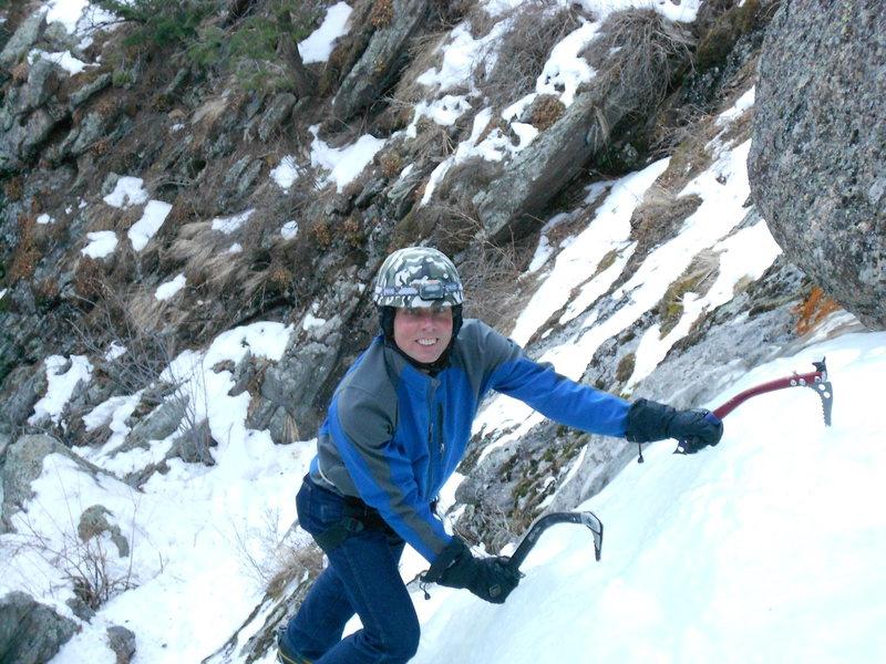 Rock Climbing Photo: Jim Detterline climbing in his trusty 501's. Dr. D...