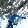 Jim Detterline climbing in his trusty 501's.<br> Dr. Detterline is one amazing climber!
