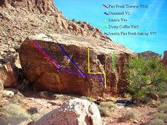 Rock Climbing Photo: Topo of the burnout boulder