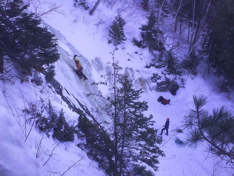 Rock Climbing Photo: fuzzy on tempest 3.10.12. super awesome climb. pho...
