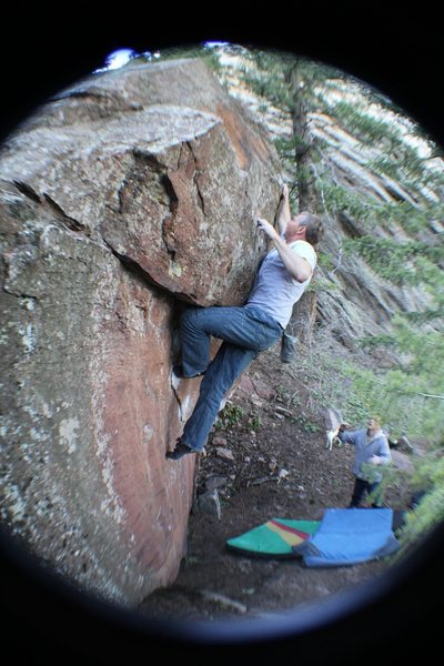 Rock Climbing Photo: Finally got up the Hobo....
