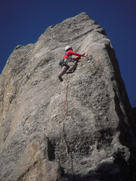 Climber on Shark's Breath, Mar 11, 2012