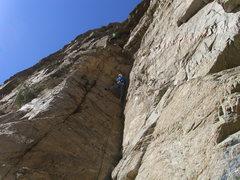 "Rock Climbing Photo: Aaron and Sam on ""Bad Boys"""