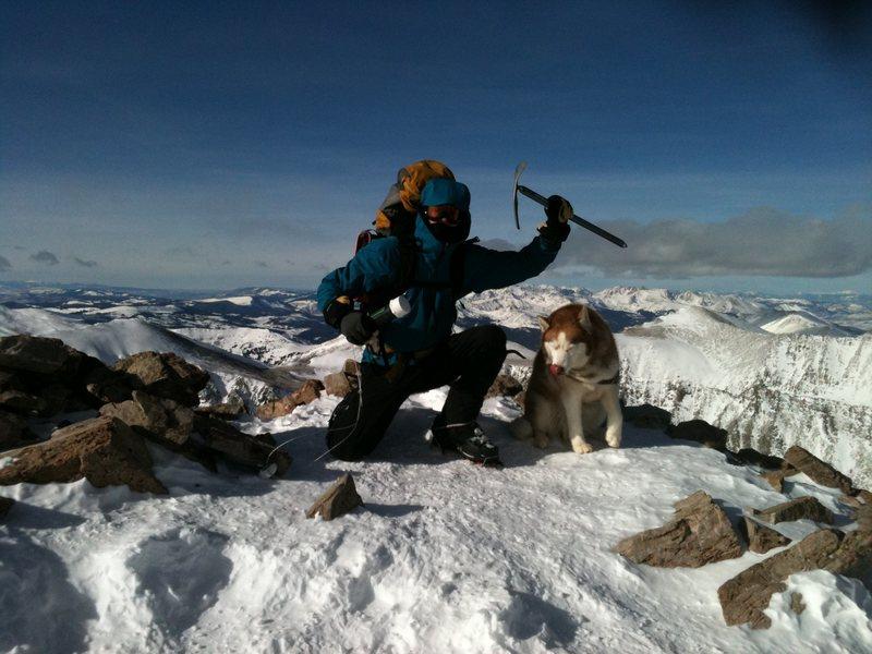 Rock Climbing Photo: A beautiful day on Quandry Peak!