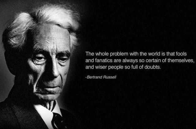 Bertrand Russel has it right!