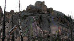 Rock Climbing Photo: Lower Smoking Section.  L to R: Marlboro Man (ligh...