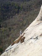 Rock Climbing Photo: Mary finishing the last pitch.