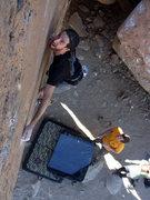 Rock Climbing Photo: Mr Witty - V6 Bishop, CA