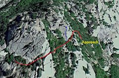Rock Climbing Photo: Crude map of the climb. I'll try to get a better p...