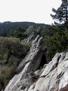 Rock Climbing Photo: P2 where Deb recommends the 1st one up gets the ca...