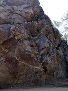 Rock Climbing Photo: The alternate P1 start, loose, 5.4 R chossaneering...