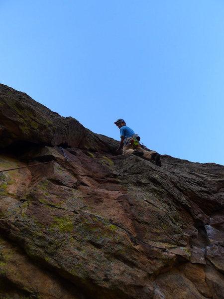 Rock Climbing Photo: Matt on P2.