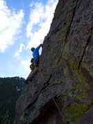 Rock Climbing Photo: Matt on P4.