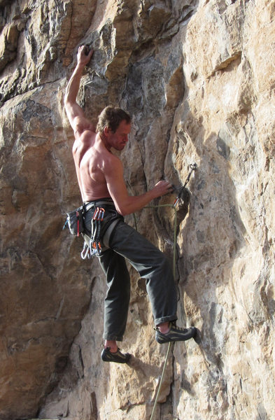 Rock Climbing Photo: Mauri Waugh onsighting.
