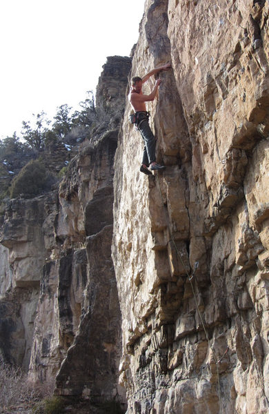 Rock Climbing Photo: Farther on.