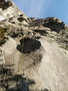 Rock Climbing Photo: Mike Holley Making Boardwalk in one major pitch!