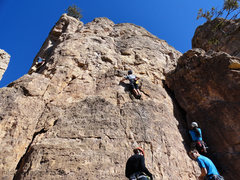 Rock Climbing Photo: Chris at C2. Tina (R) starting The Baroque Period,...