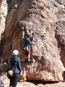 Rock Climbing Photo: Yann Starting Lamont's Period. Rachel & I would li...