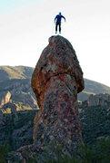 Rock Climbing Photo: Mathew G takes off!