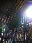 Rock Climbing Photo: Ever wonder what the inside of the horse barn look...