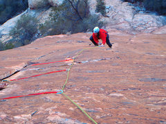 Rock Climbing Photo: Adventure Punks Pitch 1 near top