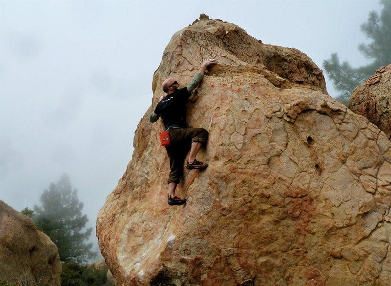 Damon nearing the top of Hightower