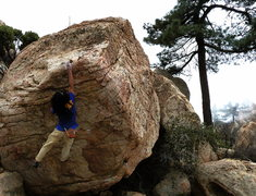 Rock Climbing Photo: Norm getting some altitude, but coming up just a l...