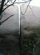 Rock Climbing Photo: boulder 13, lower half is pretty overhung