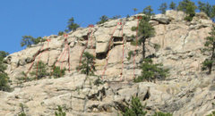 Rock Climbing Photo: Routes from L->R: Apathetic Womb Reap What You ...