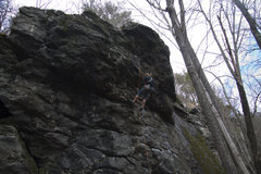 Rock Climbing Photo: Working No Money Down before sending it that day. ...