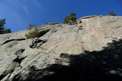 Rock Climbing Photo: Looking up from the start of pitch 1.