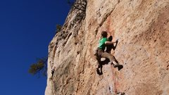 Rock Climbing Photo: Heading up a sea of crimps and pockets, trying to ...