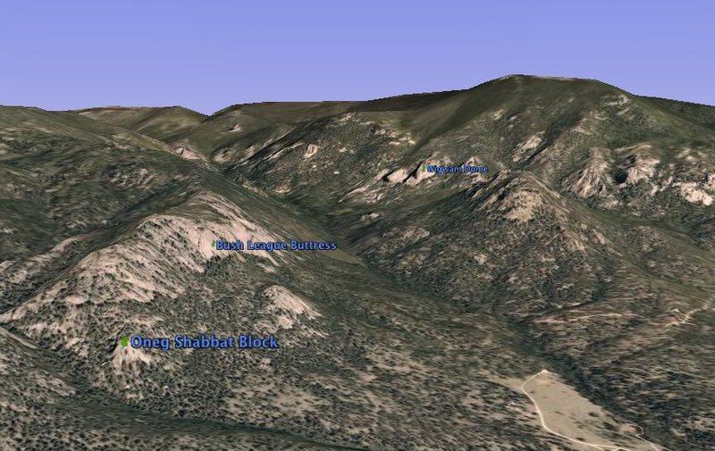 Rock Climbing Photo: Google Earth snapshot.