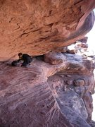 Rock Climbing Photo: The entertaining approach into Hell Roaring Canyon...