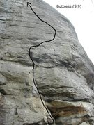 Rock Climbing Photo: At the bottom of the photo you see the rusty horiz...