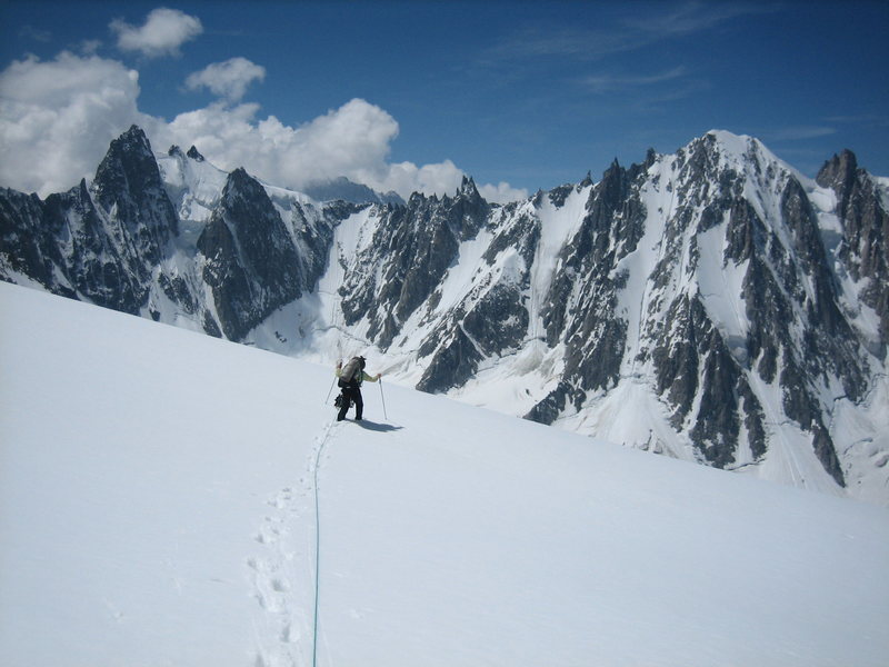 John Harlin in the Argentiere basin.