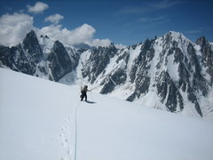 Rock Climbing Photo: John Harlin in the Argentiere basin.