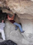 Rock Climbing Photo: Near the start, you start in the fold where my fee...